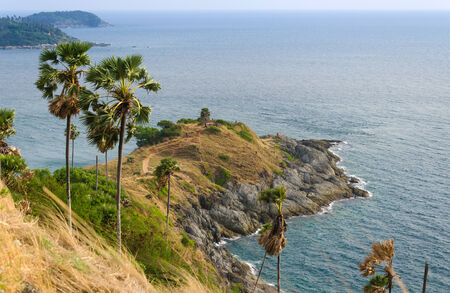 thep: Phrom Thep cape, landmark at Phuket province, Thailand Stock Photo
