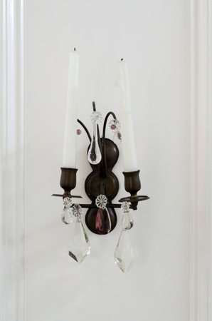 sconce: Classic sconce decorated in vintage room