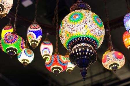 Beautiful Hanging Turkish Lanterns photo