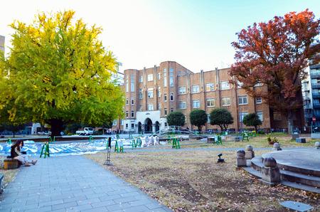 Tokyo, Japan - November 22, 2013: Students at University of Tokyo, abbreviated as Todai is a research university located in Bunkyo, Tokyo, Japan November 22, 2013