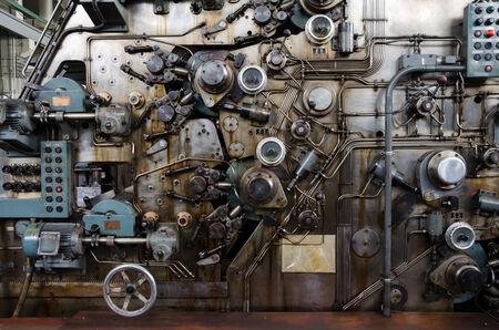 紙幣機器メーカーのさびた機構 写真素材