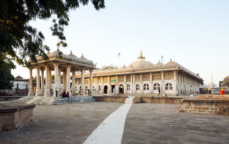 Sarkhej Roza mosque in Ahmedabad, Gujarat, India