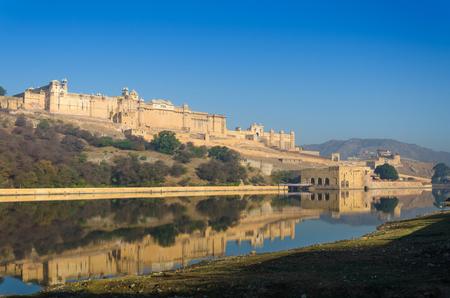 Amber fort over the lake, Jaipur, Rajasthan, India