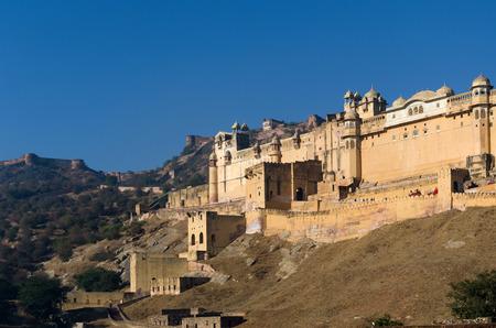 mughal: Amber Fort in Jaipur, Rajasthan, India Editorial