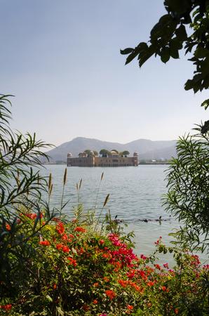 sagar: Jal Mahal in Man Sagar Lake, Jaipur, Rajasthan, India Stock Photo