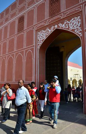 maharaja: Jaipur, India - December 29, 2014: People visit The City Palace complex on December 29, 2014 in Jaipur, India . It was the seat of the Maharaja of Jaipur, the head of the Kachwaha Rajput clan. Editorial
