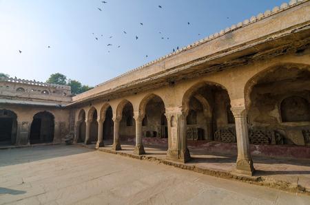 chand baori: Arcade of Chand Baori Stepwell in Rajasthan, India.