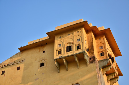 Traditional architecture in Nahargarh Fort, Jaipur, Rajasthan, India