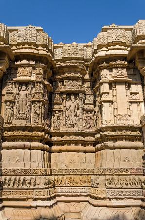 toran: Vintage crafted designs on rocks at Sun Temple Modhera, Ahmedabad, India