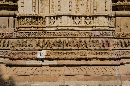 toran: Vintage crafted designs on rocks  at Sun Temple Modhera in Ahmedabad, Gujarat, India