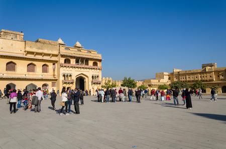 jagmandir: Jaipur, India - December29, 2014: Tourist visit Amber Fort near Jaipur, Rajasthan, India on December29, 2014. The Fort was built by Raja Man Singh I. Editorial