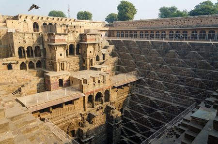 chand: Chand Baori Stepwell in the village of Abhaneri, Rajasthan, India.