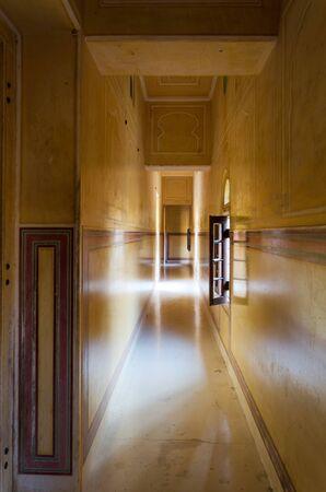 maharaja: Corridor in Nahargarh Fort, Jaipur, Rajasthan, India Editorial