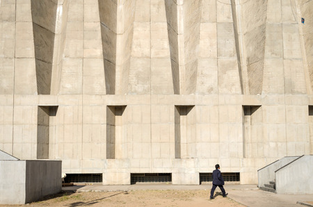 tagore: Elevation of Tagore Memorial Hall in Ahmedabad, India Editorial