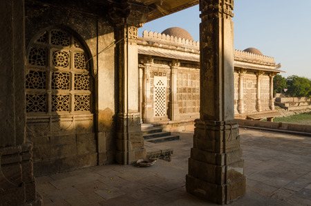 Sarkhej Roza mosque in Ahmedabad, Gujarat, India photo