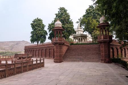 rajah: Jaswant Thada memorial raj�, Jodhpur, Rajasthan, India.