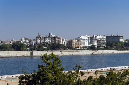riverfront: Sabarmati Riverfront in Ahmedabad, Gujarat, India