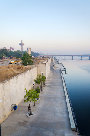 riverfront: View of Sabarmati Riverfront in Ahmedabad, India Stock Photo