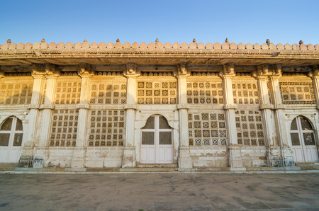 gujarat: Facade of Sarkhej Roza mosque, Ahmedabad, Gujarat, India