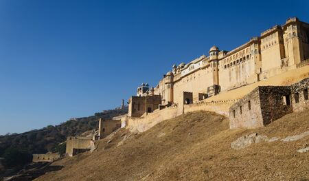 amber fort: Landscape of Amber Fort in Jaipur, Rajasthan, India Stock Photo