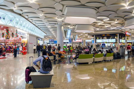 light duty: Mumbai, India - December25, 2014: Tourist Shopping at Duty free zone in Chhatrapati Shivaji International Airport - Terminal 2 on December25, 2014 in Mumbai, India. Skidmore, Owings and Merrill (SOM) was the architectural designer of the project.