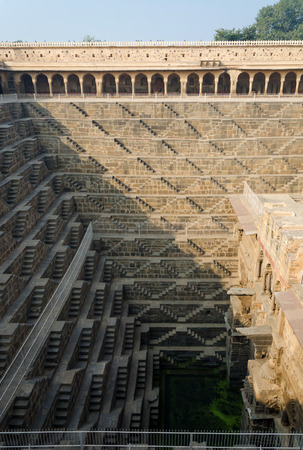 dausa: Chand Baori Stepwell in Abhaneri village, Rajasthan, India. Stock Photo