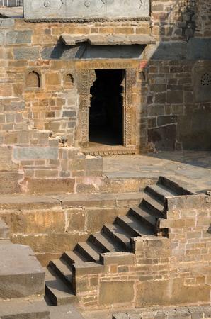 baori: Chand Baori Stepwell in the village of Abhaneri, Rajasthan, India.