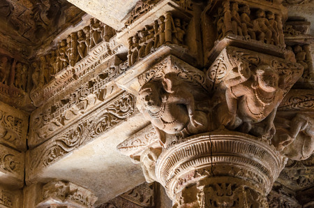 toran: Crafted designs on rocks at Sun Temple Modhera, Ahmedabad, India