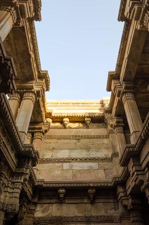 toran: Sunlight of Adalaj Stepwell in Ahmedabad, Gujarat, India