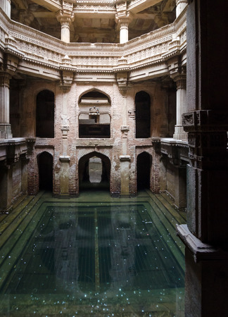 toran: Adalaj Stepwell in Ahmedabad, Gujarat, India Editorial