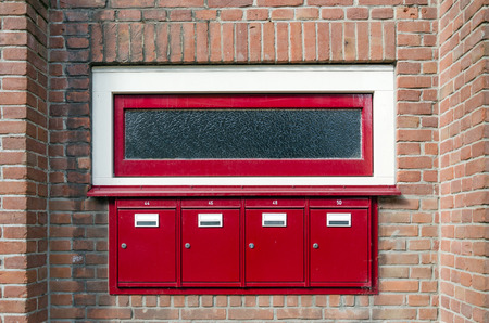 metalline: Mailbox and window outside apartment building in Amsterdam