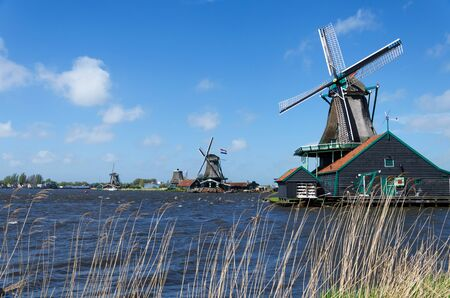 zaanse: Wind mill of Zaanse Schans, Netherlands