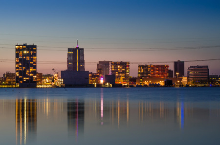 almere: Twilight at Weer Water in Almere, Flevoland, The Netherlands.