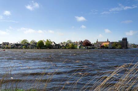 zaan: Zaandijk village in Zaanse Schans, Netherlands.
