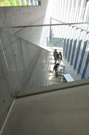 gallerie: Tokyo, Japan - November 23, 2013: People visit 21_21 Design Sight Museum on November 23, 2013. 21_21 Design Sight is a museum in Roppongi in Minato, Tokyo, Japan, which opened in 2007.