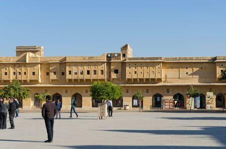 jagmandir: Jaipur, India - December 29, 2014: People visit Amber Fort near Jaipur, Rajasthan, India on December29, 2014. The Fort was built by Raja Man Singh I. Editorial