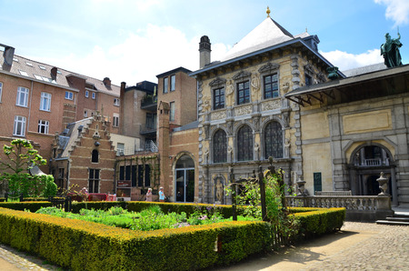 Antwerp, Belgium - May 10, 2015: Tourist visit Rubenshuis (Rubens House) on May 10, 2015. Rubens House is the former home and studio of Peter Paul Rubens (1577–1640) in Antwerp. It is now a museum. Editorial
