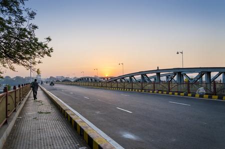 gujarat: Sunrise at Ellis Bridge in Ahmedabad, Gujarat, India
