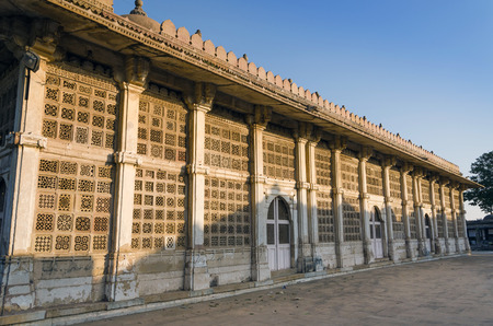 gujarat: Exterior of Sarkhej Roza mosque in Ahmedabad, Gujarat, India