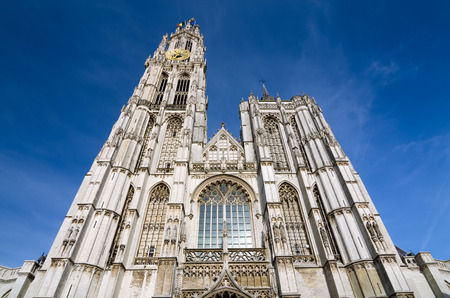 the church of our lady: Cathedral of Our Lady in Antwerp, Belgium (Onze-Lieve-Vrouwekathedraal)