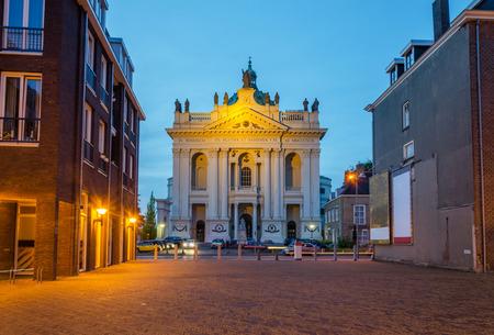barbara: Basilica of Saints Agatha and Barbara in Oudenbosch, Netherlands. Twilight time