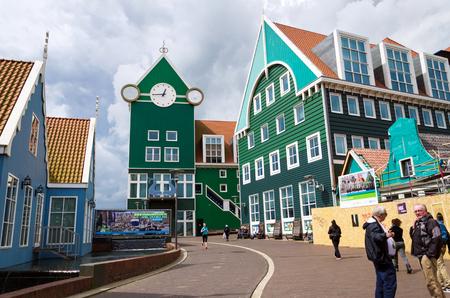 zaandam: Zaandam, Netherlands - May 5, 2015: People at Zaandam Railway Station on May 5, 2015 in Zaandam, Netherlands. The city has a population of around 72.597.