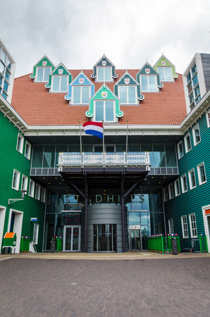 zaandam: Zaandam, Netherlands - May 5, 2015: Zaandam City Hall on May 5, 2015 in Zaandam, Netherlands. The city has a population of around 72.597. Editorial