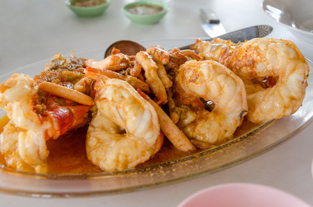 macrobrachium: Grilled giant freshwater prawn, Thai food