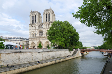 dame: Notre Dame Cathedral in Paris, France
