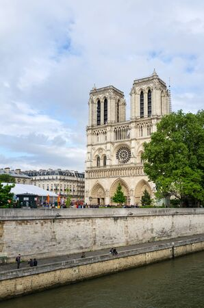 dame: Cathedral of Notre Dame in Paris, France Stock Photo