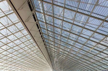 charles de gaulle: Ceiling of Charles de Gaulle airport in Paris, France Editorial