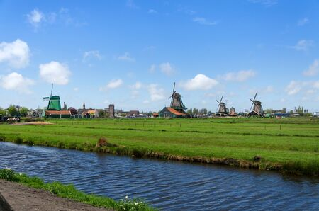 netherland: Tourist Destination in Zaanse Schans, The Netherland. Stock Photo