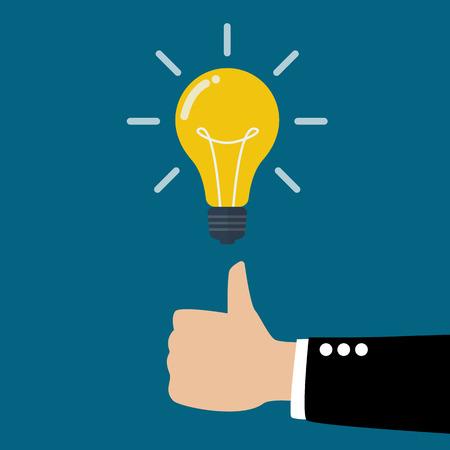alabanza: Gran idea. Idea de negocio concepto. Vectores