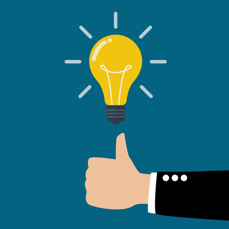 bright ideas: Great Idea. Business idea concept. Illustration